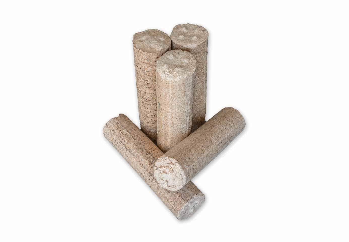 Holzbrikett ohne Loch